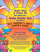 Poster: Donna Hunt is turning 60! Come celebrate with a Beatles Birthday Bash [etc.]